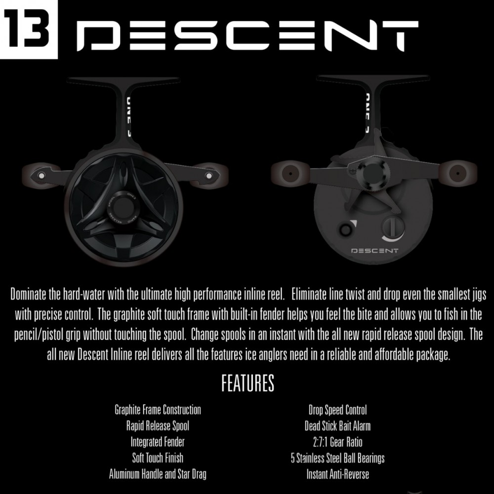 One 3 descent ice reel sportsmen 39 s direct targeting for 13 fishing freefall