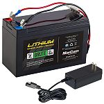 12V 10AH Marcum Lithium  Battery & 3 amp charger