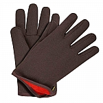 Jersey Gloves Red Lined Brown