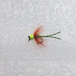 Fork Tail Tungsten Ice Flies Chartreuse