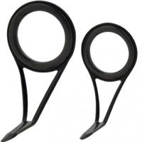 HWI Rod Guide Black Single Foot Spin Al Oxide Ring