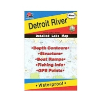 Fishing Hot Spots Map- Detroit River