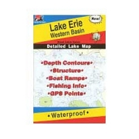 Fishing Hot Spots Map- Western Basin Lake Erie,