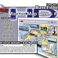 Xtreme Bass Tackle Marked Maps HD Complete Chart Book
