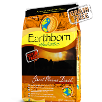 Earthborn HOLISTIC GRAIN FREE GREAT PLAINS FEAST DOG FOOD BISON 28 LB