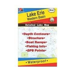 Fishing Hot Spots Map Western Basin Lake Erie Sportsmens Direct - Lake erie fishing hot spots map